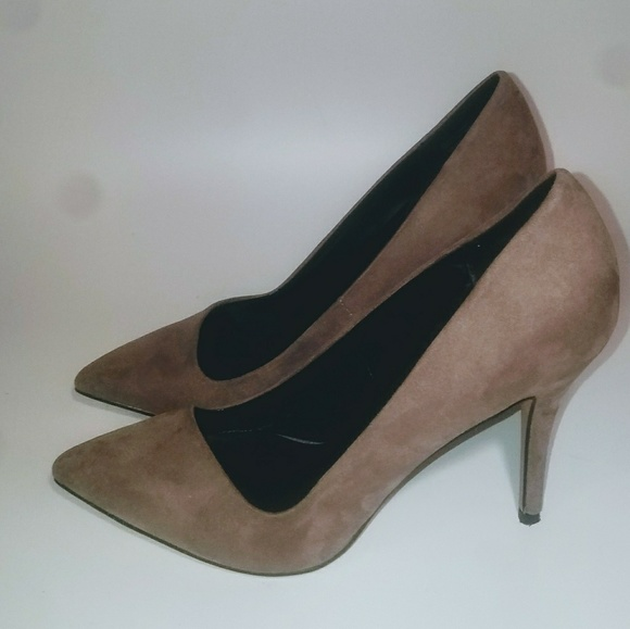 Aldo 8M Taupe Suede Pointy Toe Pumps MSRP Worn 1X
